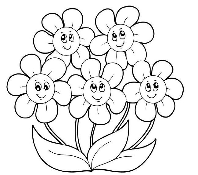 Раскраска строение цветка: Раскраски Цветы для детей 3-10 ...