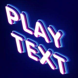 Font with game play lettering effect