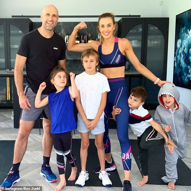 Living the dream! The Judd family (pictured) live in a $7.3million mansion in Brighton, an upmarket suburb in Melbourne