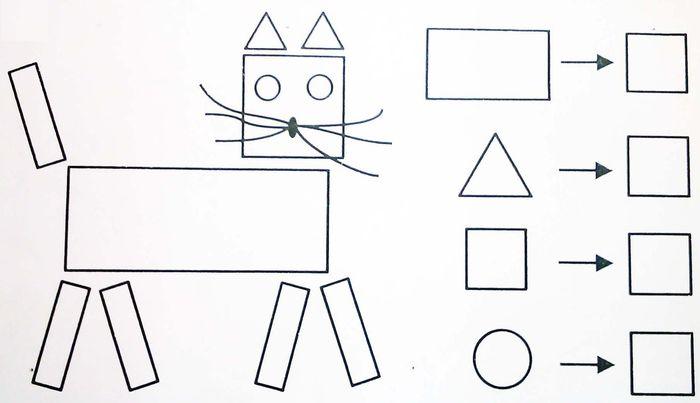 Рисунки с помощью геометрических фигур: Рисунки из ...