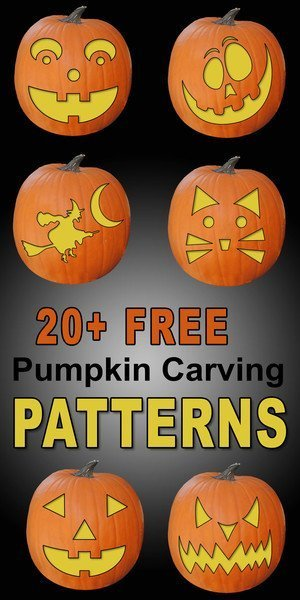 FREE pumpkin carving stencils, patterns, templates, and designs.  Use these printable pumpkin carving patterns for marking a pumpkin (Jack O Lantern), Halloween decorations, costumes.