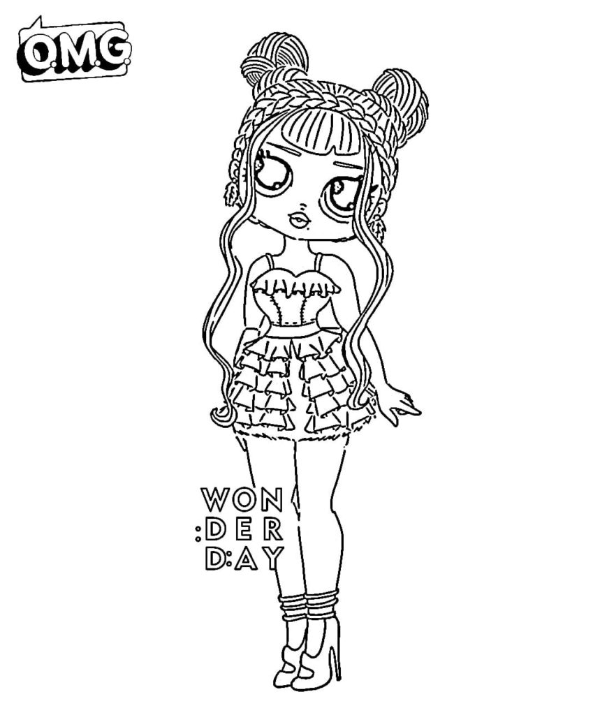Coloring pages LOL OMG. Download or print new dolls for free
