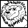Learn how to draw cartoon lions