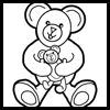 How to Draw Cartoon Teddy bears with easy step by step lesson