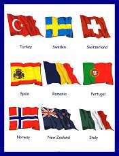 Countries and Flags For Children