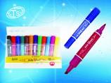 Набор маркеров перманентный, 2-сторонний, цветной корпус с клипом 12-цветов/150