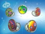 Зеркало-круглое, в подарочной упаковке / Неоновые цветы/ 870 H