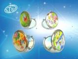 Зеркало-круглое,в подарочной упаковке /Бабочки / 870 C