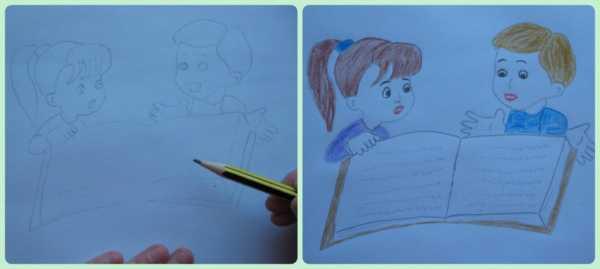 Детский рисунок учителя – Раскраска с Днём Учителя ...