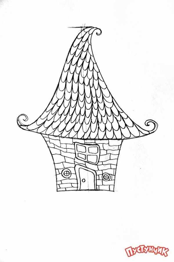 Как нарисовать дом по деталям