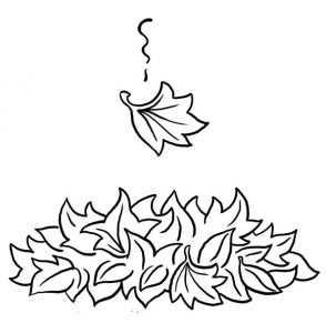 Картинка листья для детей раскраска – Раскраски Листья ...