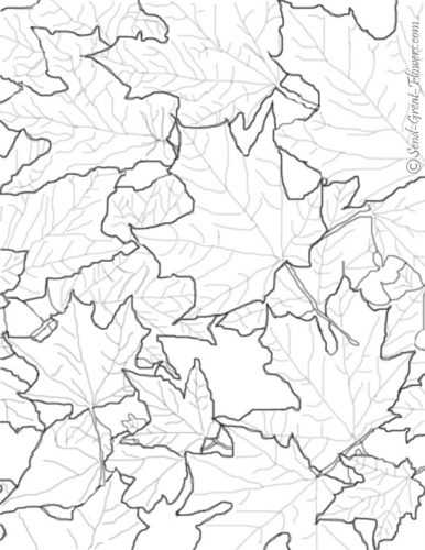 Осенний пейзаж раскраска картинки – Раскраски на тему ...