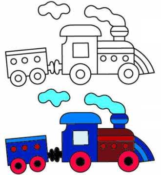 паровозики раскраска раскраска паровоз распечатать