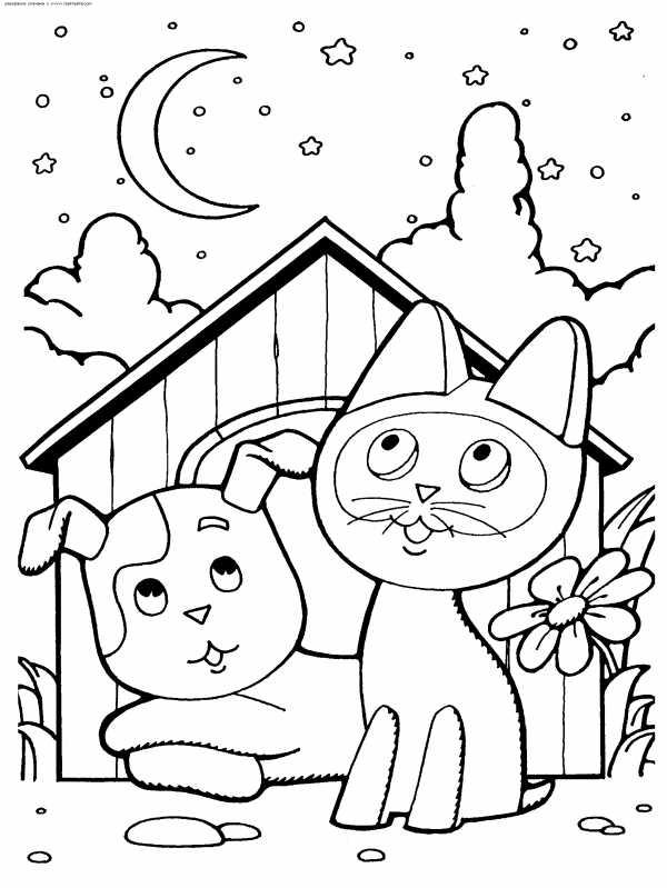 раскраска котенок распечатать раскраски кота кошки котят