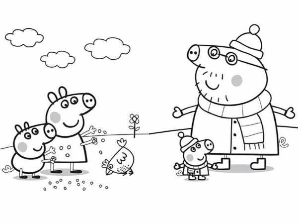 Раскраска распечатать бесплатно свинка пеппа – Раскраска ...