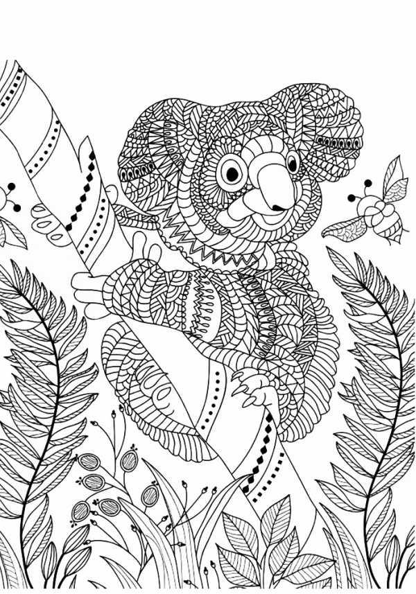 раскраски антистресс животные сложные милые раскраска