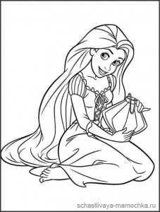 Раскраски принцесса рапунцель – Рапунцель раскраска ...