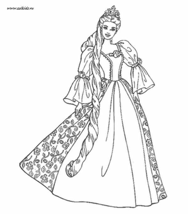 распечатать раскраски для девочек принцессы раскраски