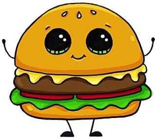 Рисунки на тему еда – Раскраски еда и вкусняшки, напитки ...