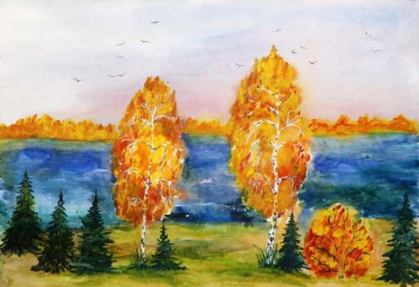 Рисунки про осень 3 класса – Как рисовать на тему Золотая ...